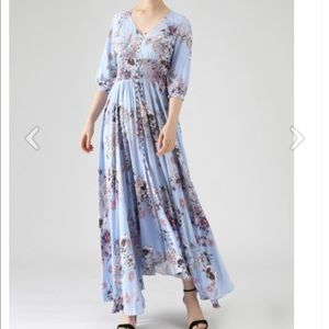 Forever Fave Floral Maxi Dress in Blue